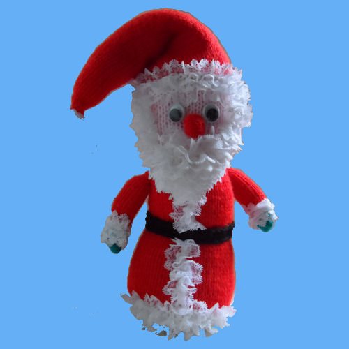 Knitted Eyelet Lace Santa